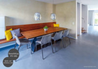 Mikrozement fugenlose Futado Wand und Bodenbeschichtung im Küchenbereich - Basaltblau FU-106