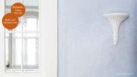 Mikrozement fugenlose Volimea Wandbeschichtung im Büro - Himmelblau VO-18