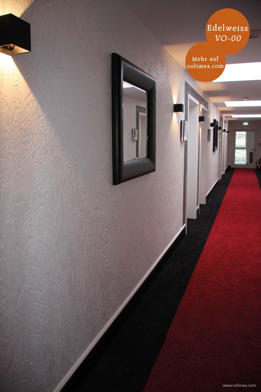 Mikrozement fugenlose Volimea Wandbeschichtung in einem Hotel - Edelweiss VO-00