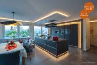 Mikrozement fugenlose Volimea Wandbeschichtung im Küchenbereich - Champagner VO-32