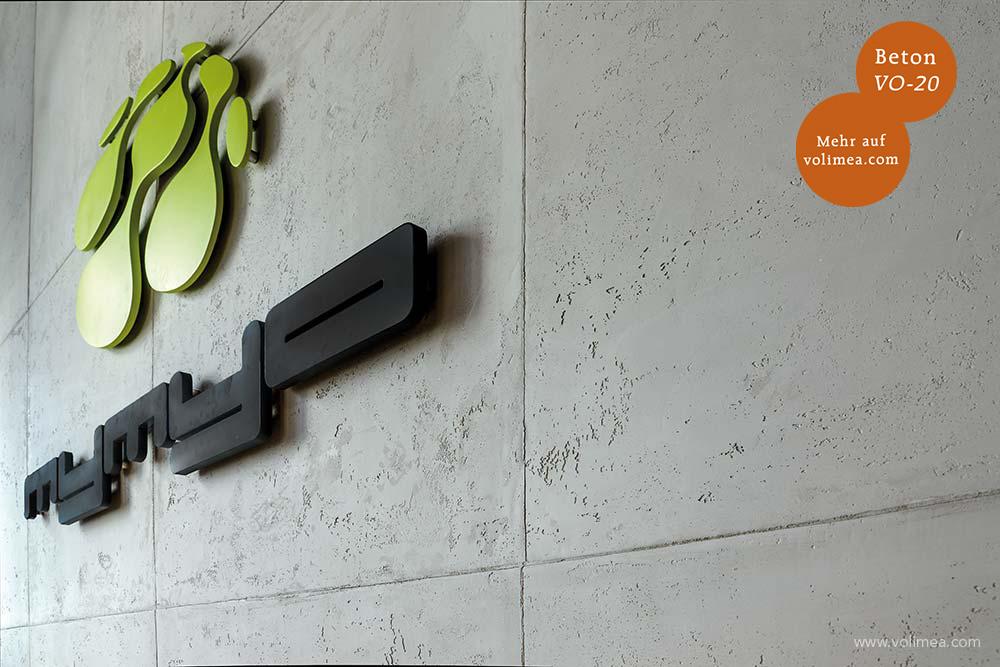 Mikrozement fugenlose Volimea Wandbeschichtung im Fitness-Bereich - Beton VO-20