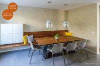 Mikrozement fugenlose Volimea Wandbeschichtung in der Wohnküche - Schilf VO-24